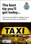 NYP16-0033 - Poster: The best tip you'll get today - Security for taxi drivers